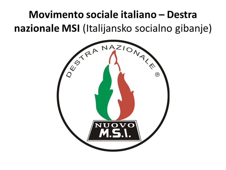 Movimento sociale italiano – Destra nazionale MSI (Italijansko socialno gibanje)