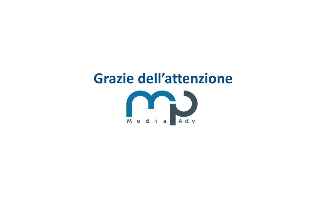 Viale Andrea Doria 7 20124 Milano Tel. 02.36.76.90.00 Email: Info@mpmedia-adv.it Grazie dell'attenzione