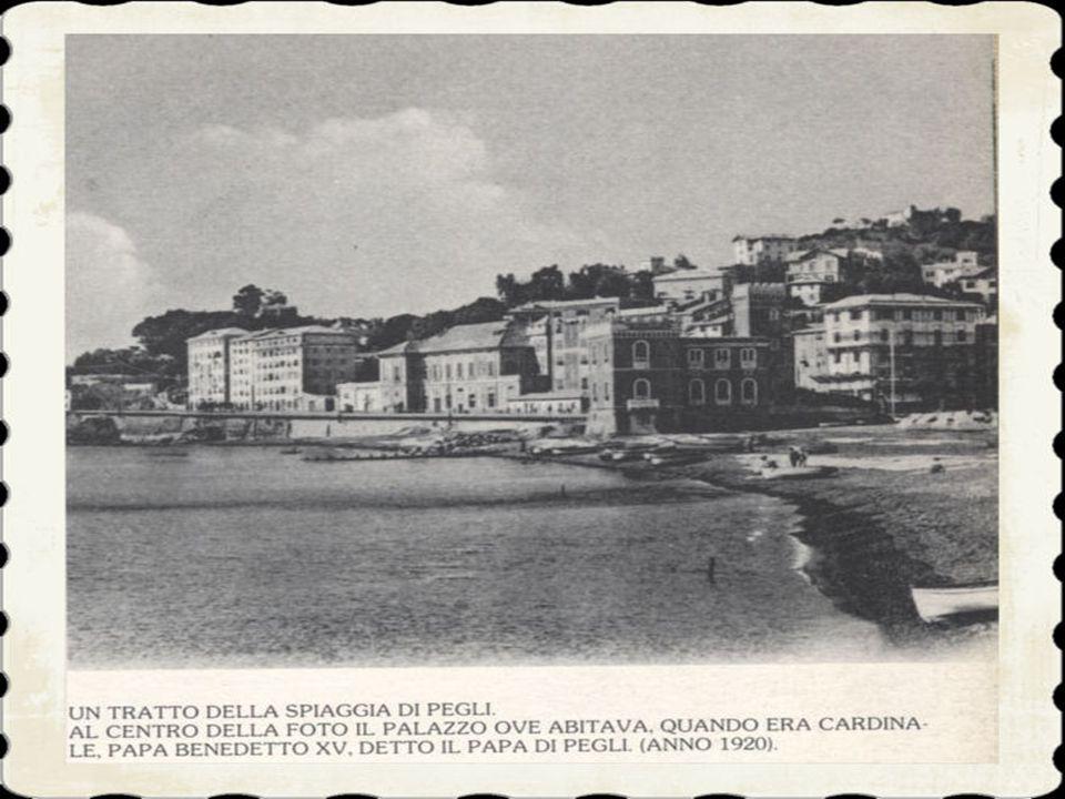 7)IL RINOMATO ALBERGO RISTORANTE PUPPO «AL MARE» SUL LUNGOMARE DI PEGLI. A Villa Pallavicini soggiornò la regina Maria Pia del Portogallo nel 1861, l'