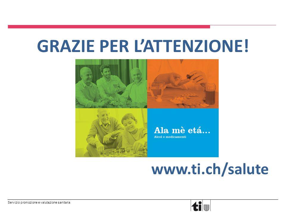 Servizio promozione e valutazione sanitaria GRAZIE PER L'ATTENZIONE! www.ti.ch/salute