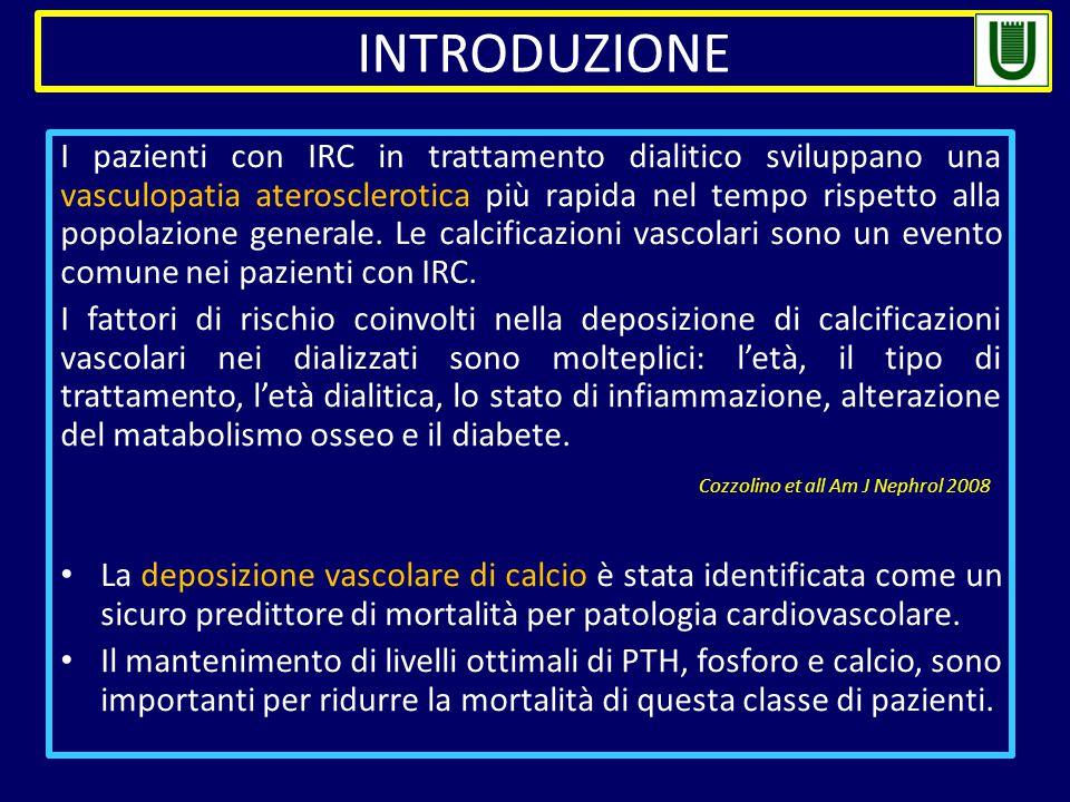I pazienti con IRC in trattamento dialitico sviluppano una vasculopatia aterosclerotica più rapida nel tempo rispetto alla popolazione generale.