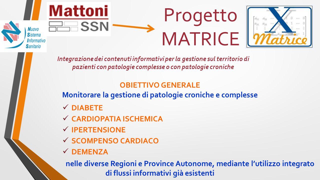 Integrazione dei contenuti informativi per la gestione sul territorio di pazienti con patologie complesse o con patologie croniche Progetto MATRICE OB