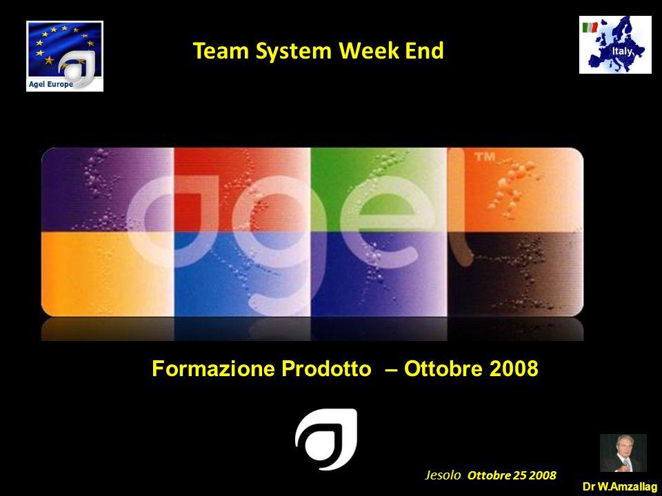 Dr W.Amzallag Jesolo Ottobre 25 2008 5 Team System Week End Vita migliore, Vita ottimale Le persone vogliono vivere più a lungo, per essere efficienti a lungo, per muoversi più a lungo, per amare più a lungo, per lavorare più a lungo.