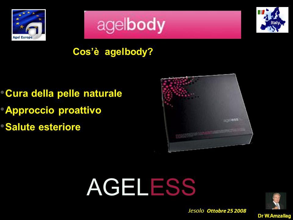 Dr W.Amzallag Jesolo Ottobre 25 2008 5 Team System Week End AGELESS Cos'è agelbody? Cura della pelle naturale Approccio proattivo Salute esteriore