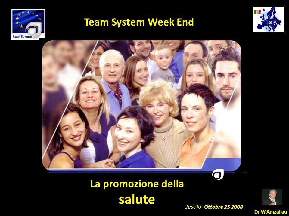Dr W.Amzallag Jesolo Ottobre 25 2008 5 Team System Week End SALUTE Salvare vite Conservare vite Prevenire le malattie Curare le malattie