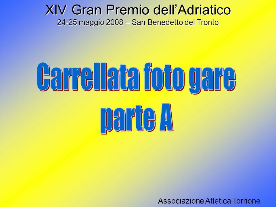 Solo il campo deciderà la vittoria… Anonimo Anonimo XIV Gran Premio dell'Adriatico 24-25 maggio 2008 – San Benedetto del Tronto Associazione Atletica Torrione