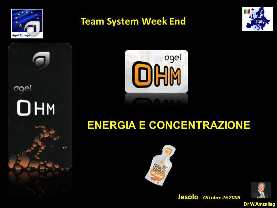 Dr W.Amzallag Jesolo Ottobre 25 2008 5 Team System Week End ENERGIA E CONCENTRAZIONE