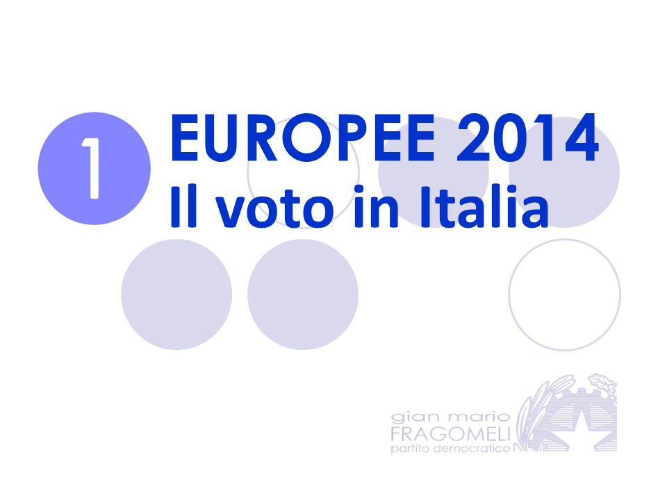 EUROPEE 2014 Il voto in Italia