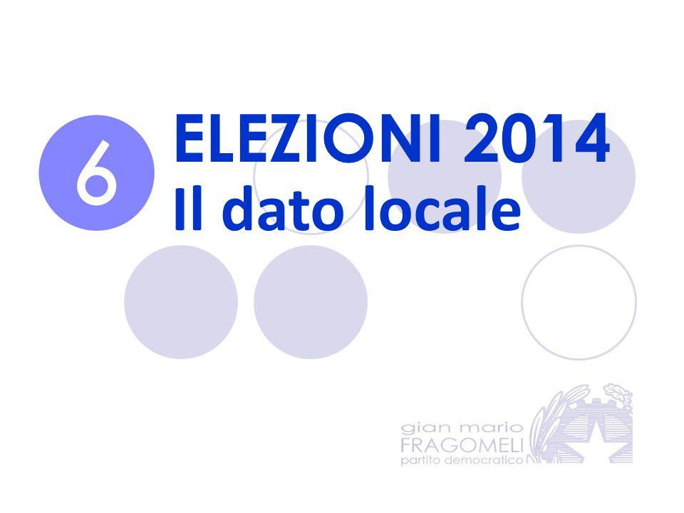 ELEZIONI 2014 Il dato locale