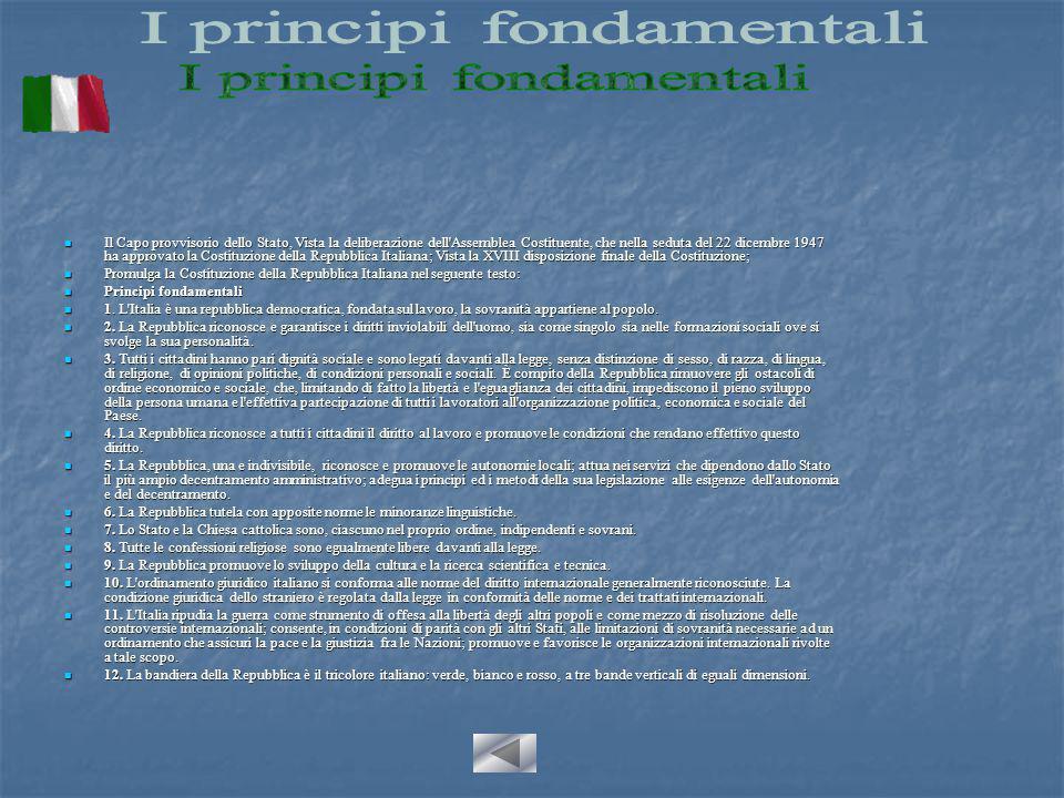 """La Costituzione italiana è """"rigida"""", cioè non può essere modificata con leggi ordinarie. Ciò allo scopo di sottrarre la legge fondamentale dello stato"""
