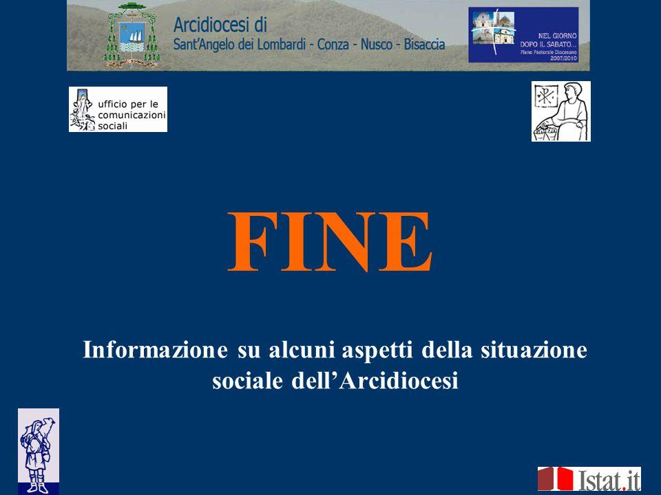 Informazione su alcuni aspetti della situazione sociale dell'Arcidiocesi FINE