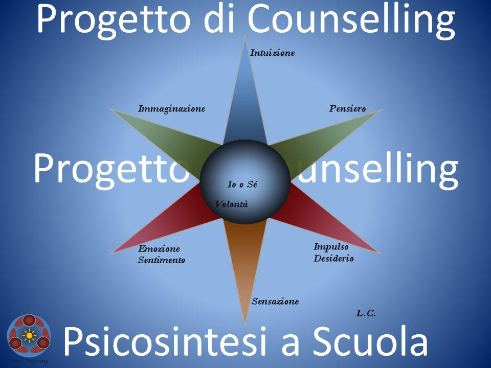 Presentare i punti salienti di un progetto di Counselling, introdotto in una scuola media superiore con il fine di suscitare l'attenzione per la Psicosintesi tra i giovani adolescenti, con età maggiore di 17 anni.