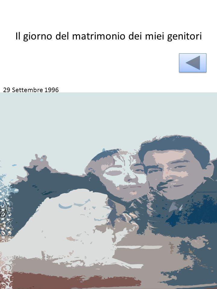 Il giorno del matrimonio dei miei genitori 29 Settembre 1996