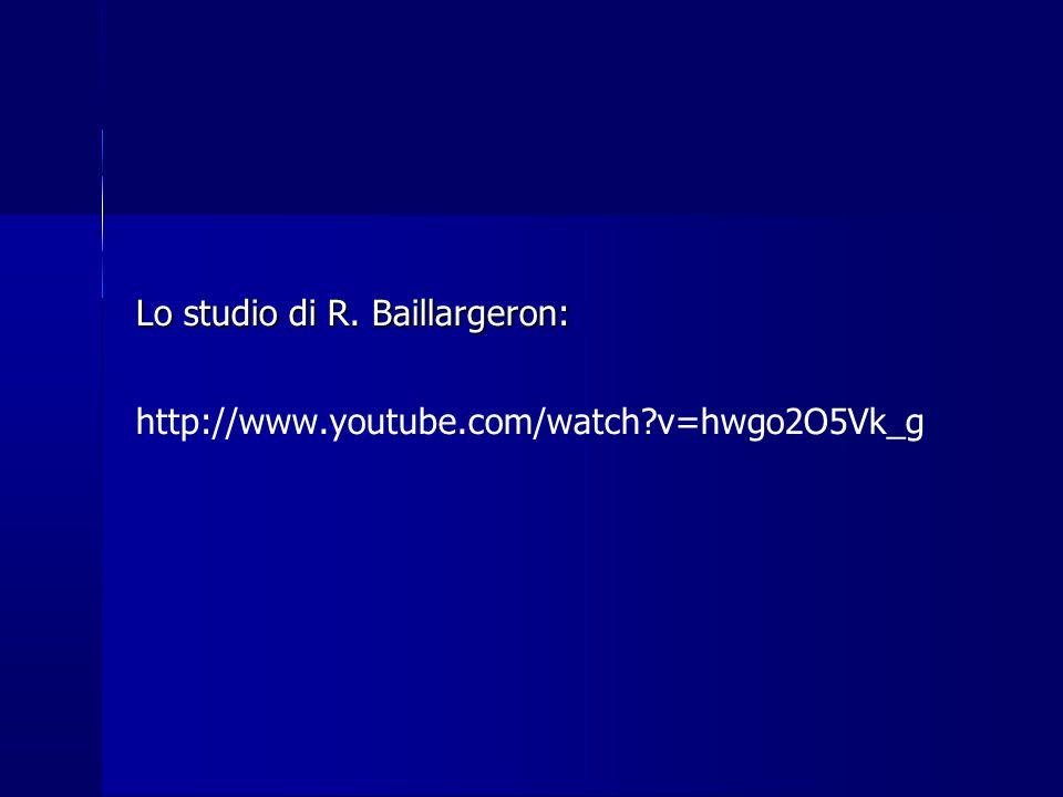 Lo studio di R. Baillargeron: http://www.youtube.com/watch?v=hwgo2O5Vk_g