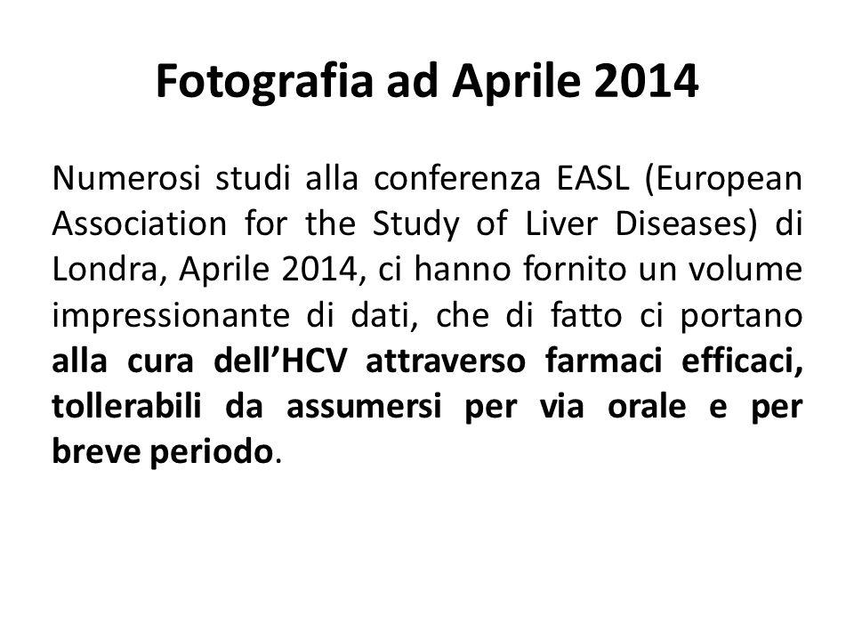 Fotografia ad Aprile 2014 Numerosi studi alla conferenza EASL (European Association for the Study of Liver Diseases) di Londra, Aprile 2014, ci hanno
