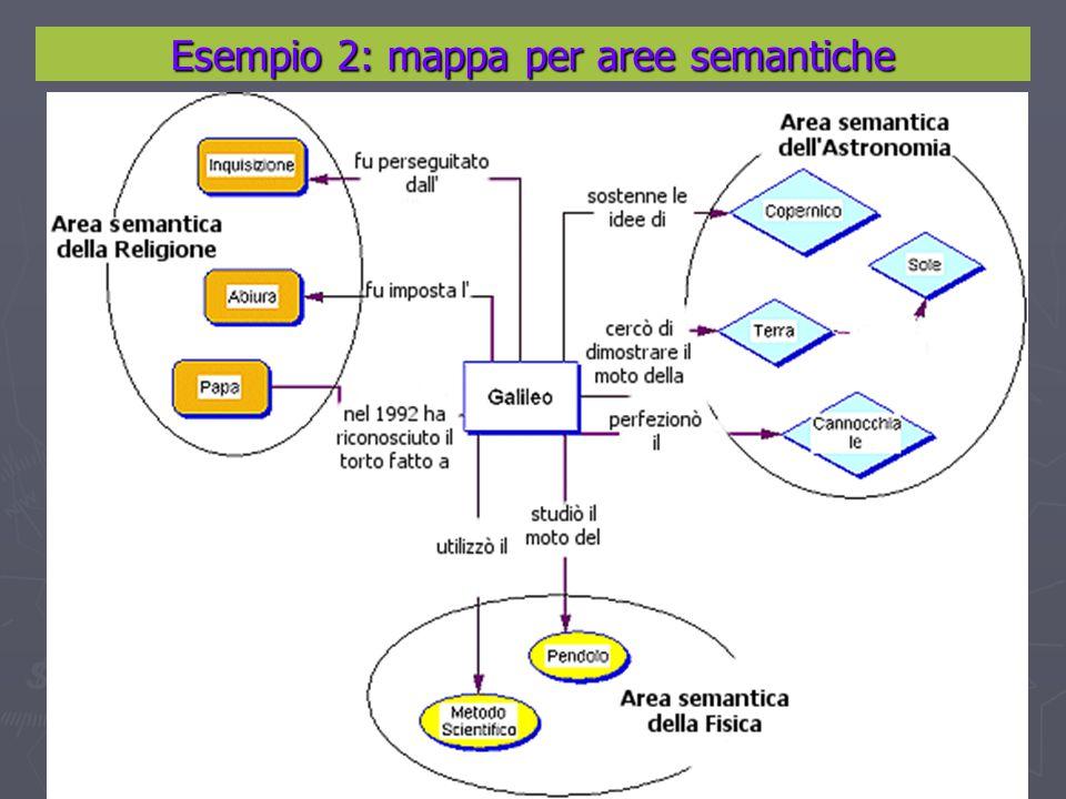 Esempio 2: mappa per aree semantiche
