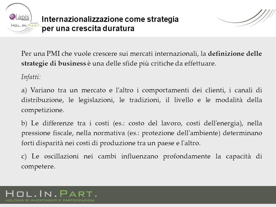 Per una PMI che vuole crescere sui mercati internazionali, la definizione delle strategie di business è una delle sfide più critiche da effettuare.