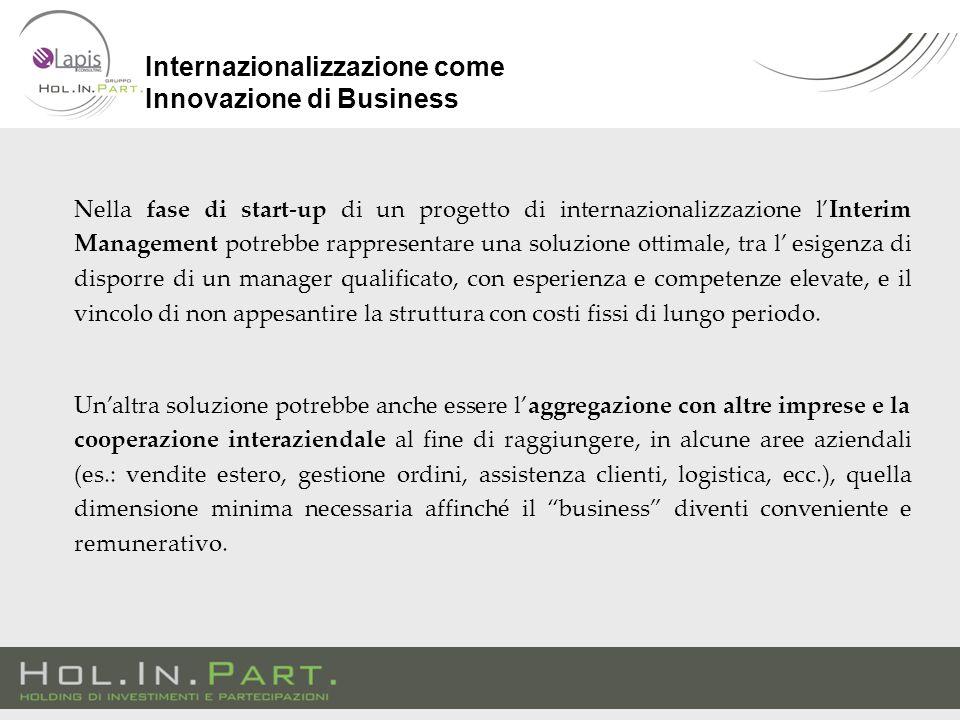 Nella fase di start-up di un progetto di internazionalizzazione l'Interim Management potrebbe rappresentare una soluzione ottimale, tra l' esigenza di