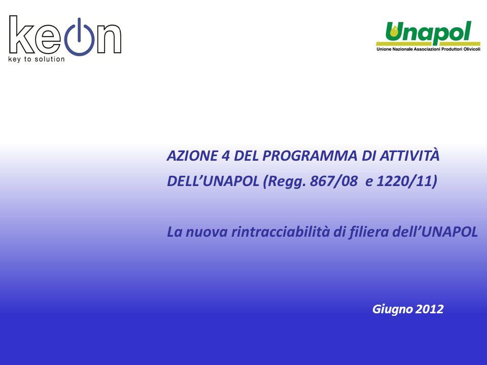 AZIONE 4 DEL PROGRAMMA DI ATTIVITÀ DELL'UNAPOL (Regg.
