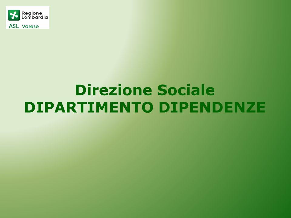 Direzione Sociale DIPARTIMENTO DIPENDENZE