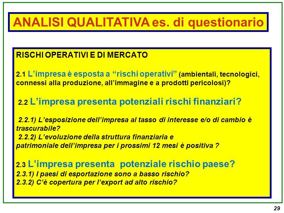 """29 RISCHI OPERATIVI E DI MERCATO 2.1 L'impresa è esposta a """"rischi operativi"""" (ambientali, tecnologici, connessi alla produzione, all'immagine e a pro"""
