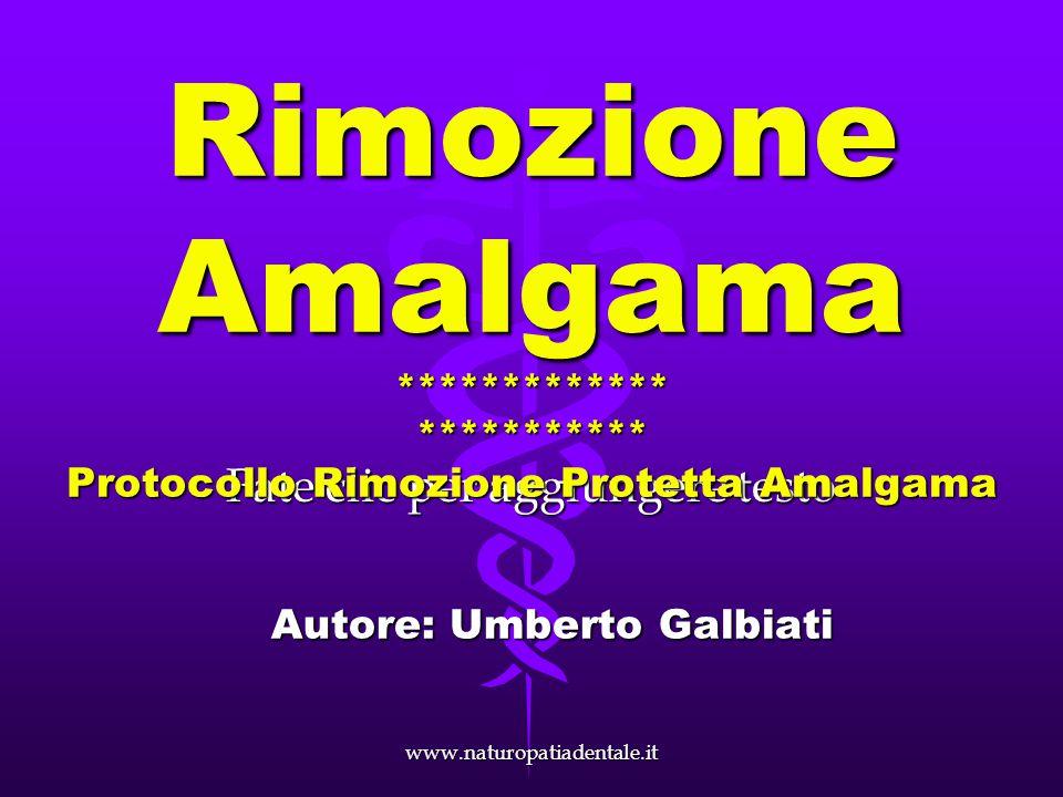 www.naturopatiadentale.it Rimozione amalgama in triplice protezione Intarsio in composito biocompatibile cementato in bocca