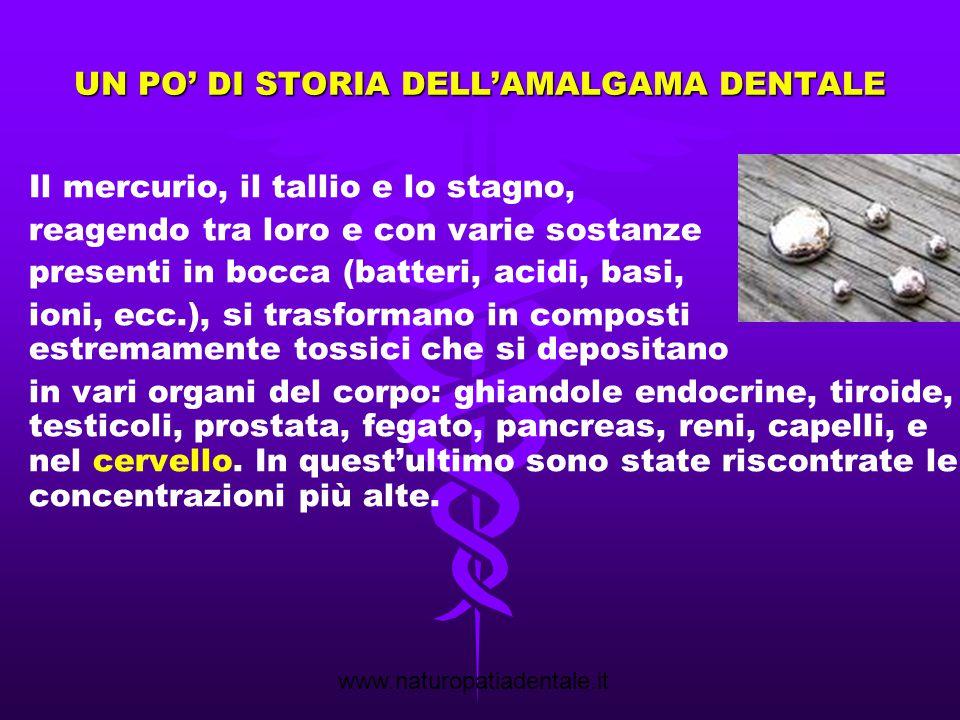 www.naturopatiadentale.it Rimozione amalgama in triplice protezione Rimozione protetta effettuata: presenza carie secondarie