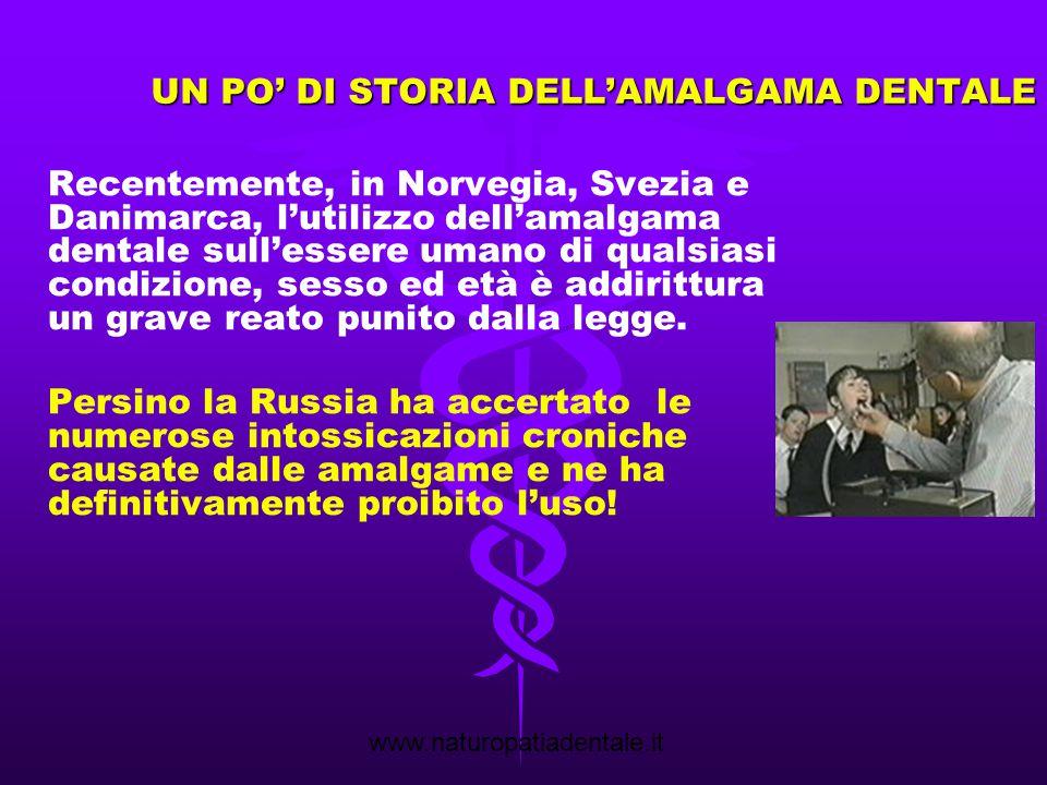 www.naturopatiadentale.it Rimozione amalgama in triplice protezione Intarsi in composito biocompatibile cementati in bocca