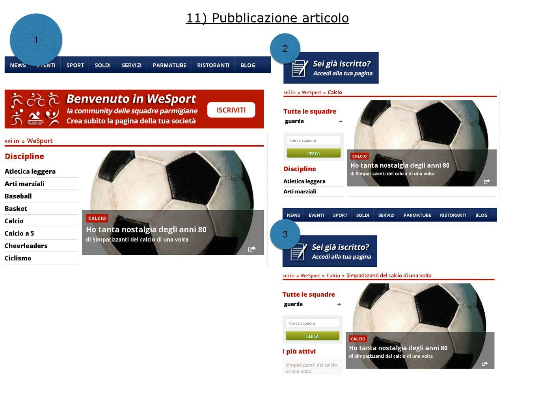11) Pubblicazione articolo 1 1 2 2 3 3