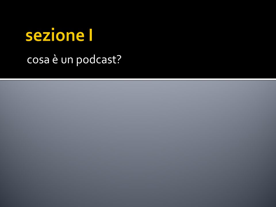 cosa è un podcast?