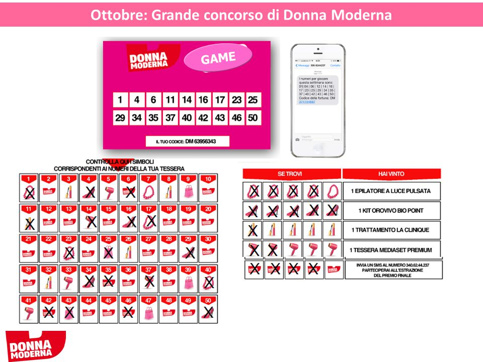 Ottobre: Grande concorso di Donna Moderna GAME