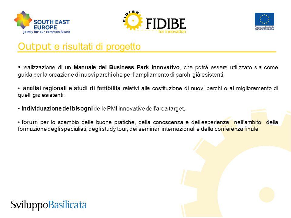 6 Output e risultati di progetto realizzazione di un Manuale del Business Park innovativo, che potrà essere utilizzato sia come guida per la creazione