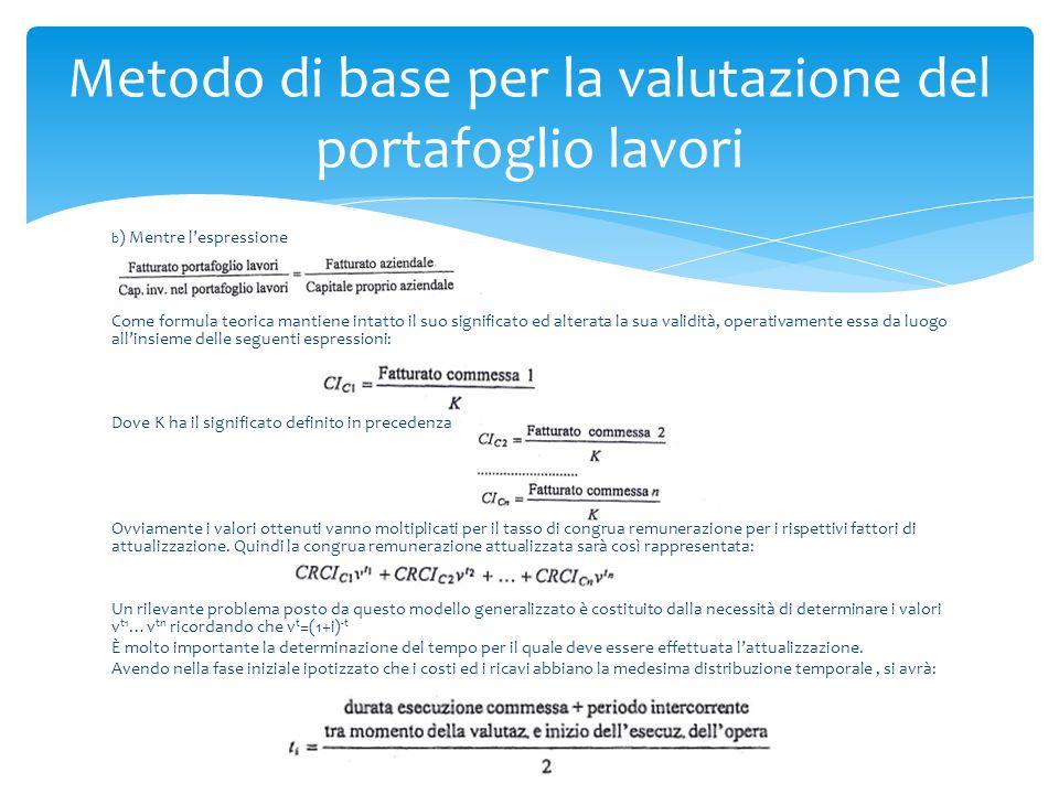 b ) Mentre l'espressione Come formula teorica mantiene intatto il suo significato ed alterata la sua validità, operativamente essa da luogo all'insiem