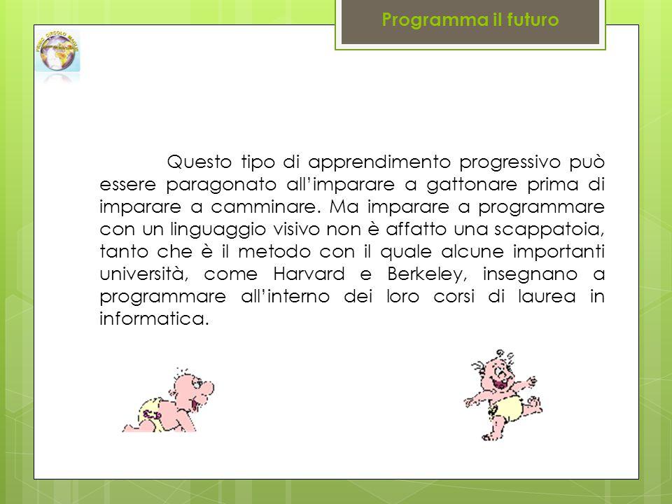 Questo tipo di apprendimento progressivo può essere paragonato all'imparare a gattonare prima di imparare a camminare.