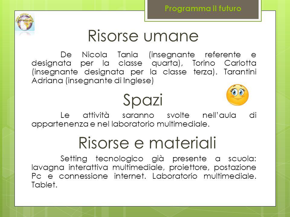 De Nicola Tania (insegnante referente e designata per la classe quarta), Torino Carlotta (insegnante designata per la classe terza).
