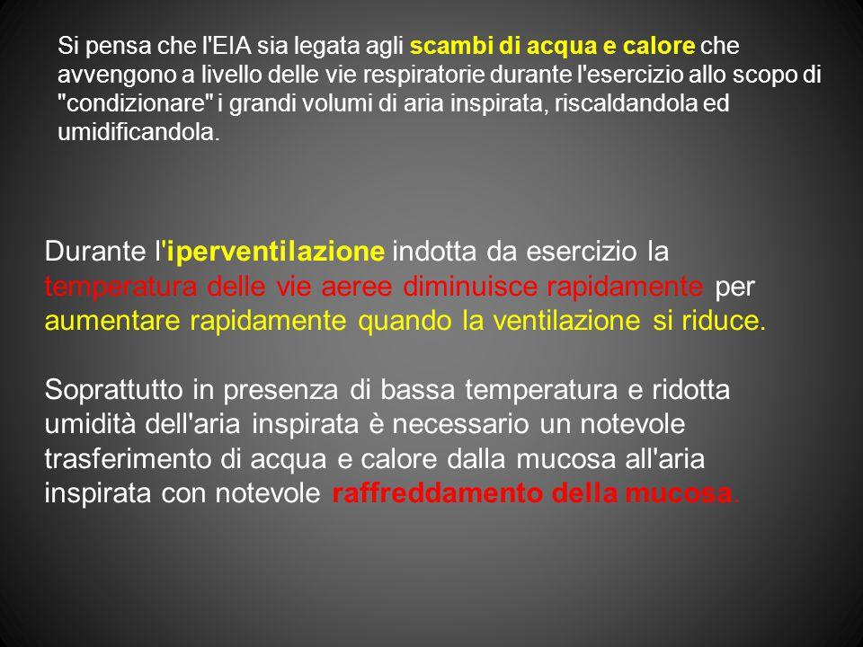 Si pensa che l'EIA sia legata agli scambi di acqua e calore che avvengono a livello delle vie respiratorie durante l'esercizio allo scopo di