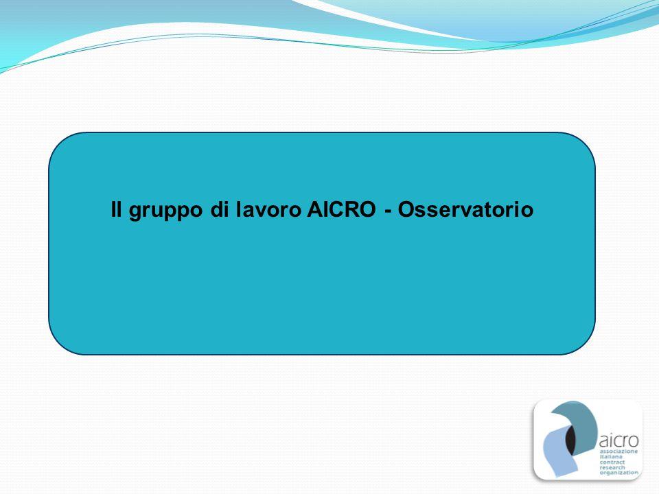Il gruppo di lavoro AICRO - Osservatorio