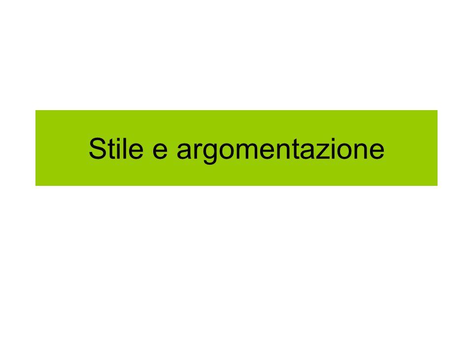 Stile e argomentazione