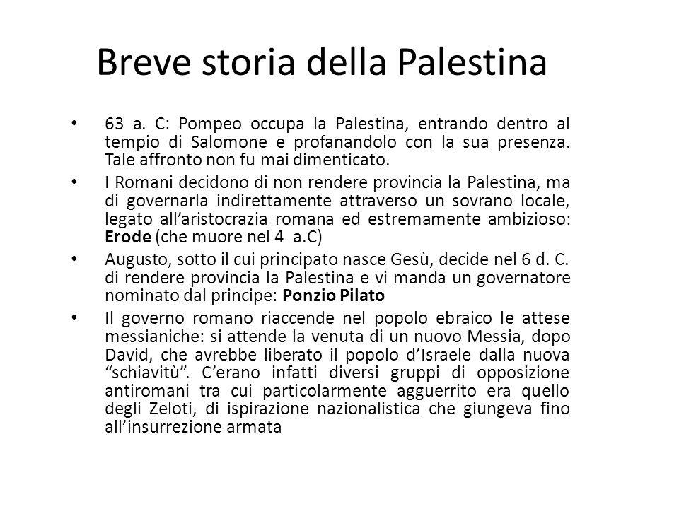 Breve storia della Palestina 63 a.