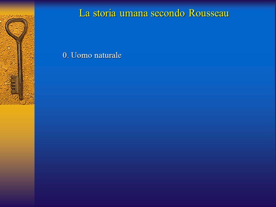 0.Uomo naturale 0. Uomo naturale La storia umana secondo Rousseau