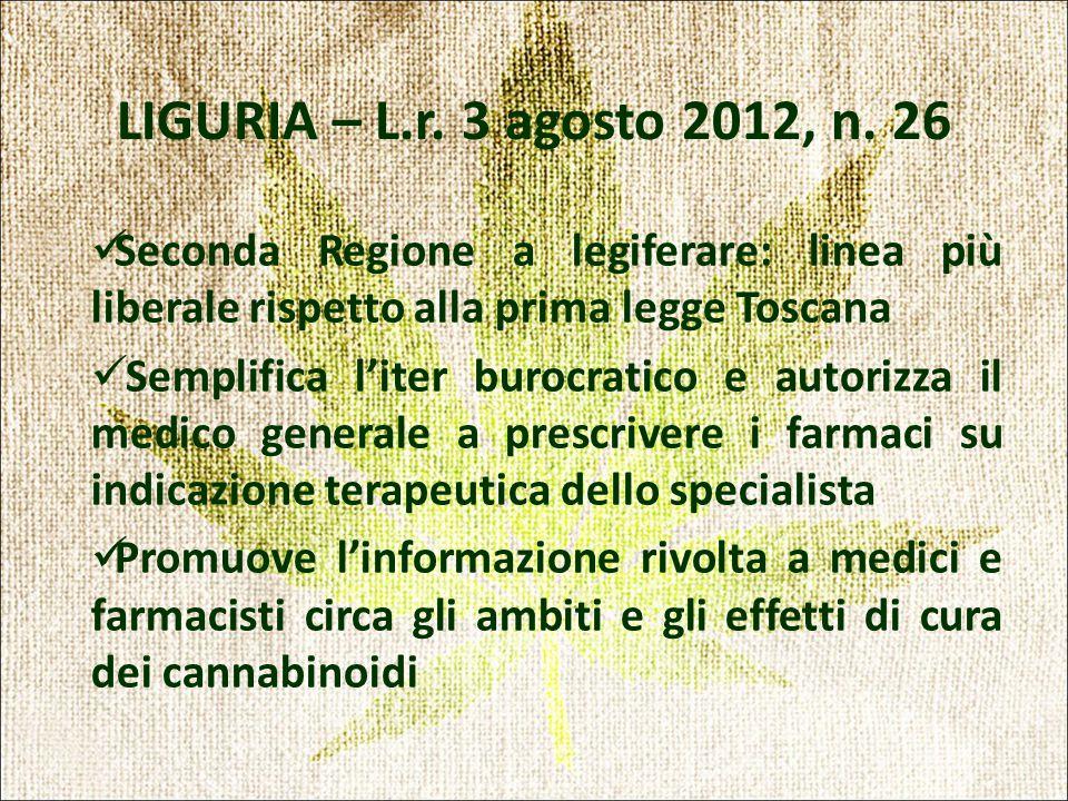 LIGURIA – L.r. 3 agosto 2012, n.