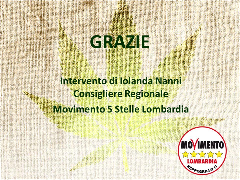 GRAZIE Intervento di Iolanda Nanni Consigliere Regionale Movimento 5 Stelle Lombardia
