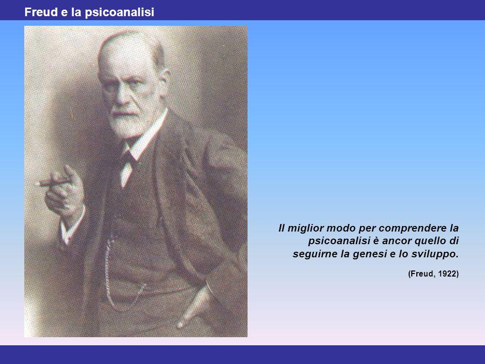 2 Freud e la psicoanalisi Il miglior modo per comprendere la psicoanalisi è ancor quello di seguirne la genesi e lo sviluppo. (Freud, 1922)