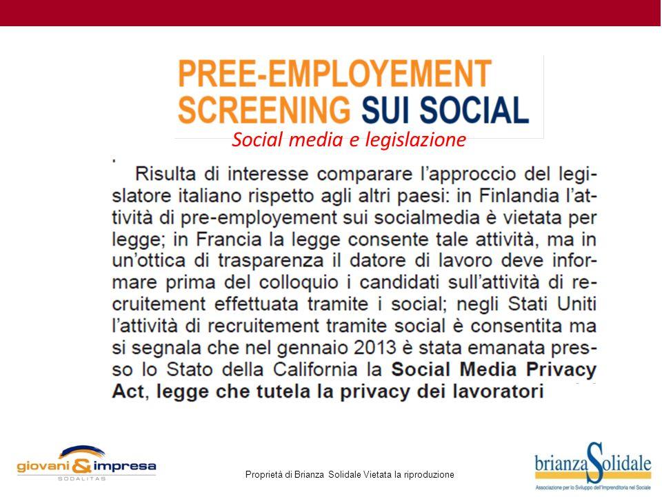 Social media e legislazione