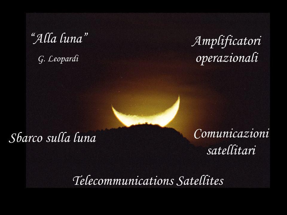 """""""Alla luna"""" G. Leopardi Sbarco sulla luna Comunicazioni satellitari Amplificatori operazionali Telecommunications Satellites"""