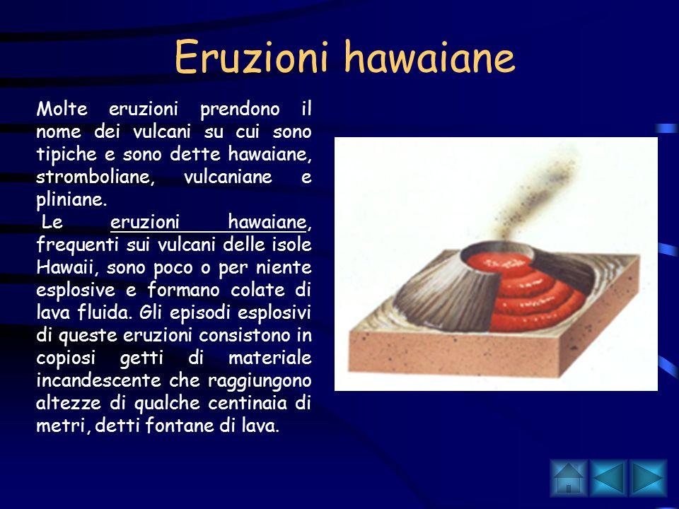 Nelle esplosive, il magma viene frammentato in particelle di varie dimensioni che vengono scagliate all esterno con violenza e si raffreddano formando pomici, scorie e ceneri, chiamate piroclasti.