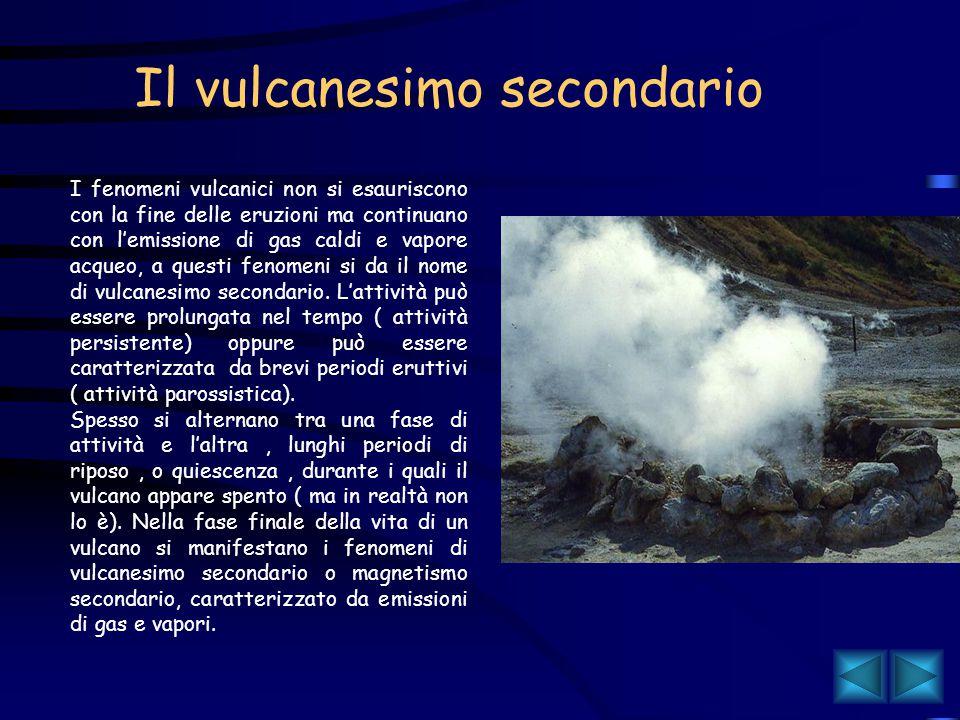 I gas che fuoriescono da un vulcano sono l'idrogeno, l'anidride carbonica, l'anidride solforosa e il vapore acqueo. Tutti i prodotti emessi nel corso
