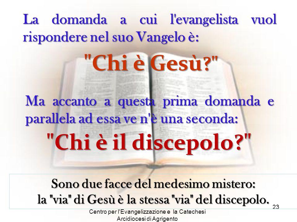 Centro per l'Evangelizzazione e la Catechesi Arcidiocesi di Agrigento 23 Sono due facce del medesimo mistero: la