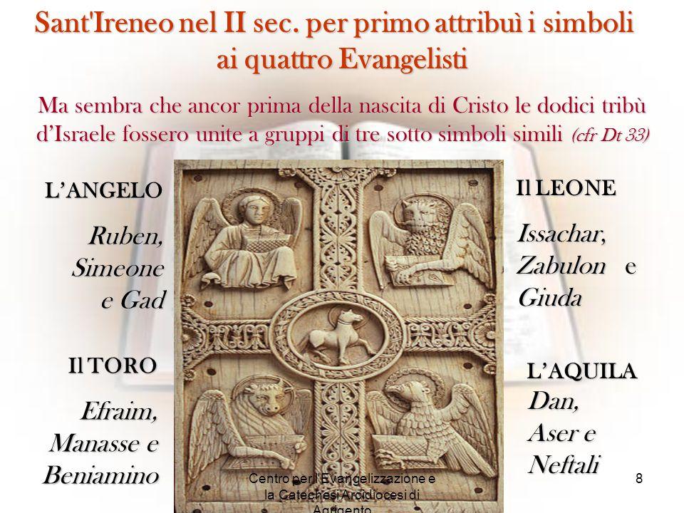 Sant'Ireneo nel II sec. per primo attribuì i simboli ai quattro Evangelisti Ma sembra che ancor prima della nascita di Cristo le dodici tribù d'Israel