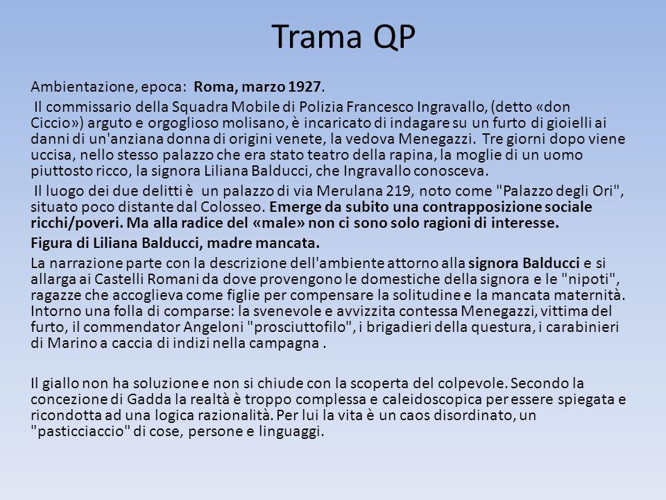 Trama QP Ambientazione, epoca: Roma, marzo 1927.
